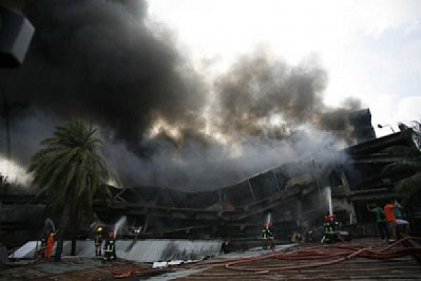 Firefighters battle to douse blaze at Tongi factory