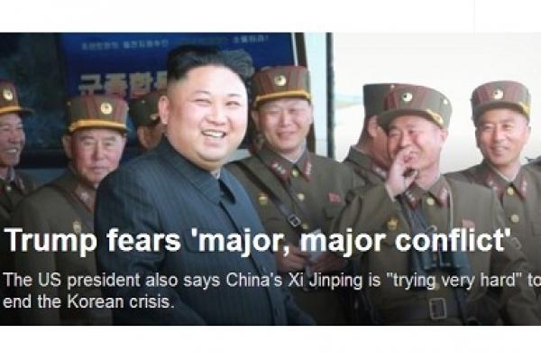 Trump-fears-major-major-conflict-with-North-Korea