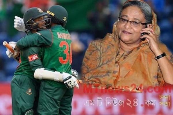 Sheikh Hasina talks to Shakib, Mahmudullah over phone