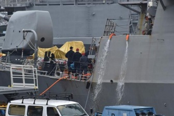 Missing US sailors found dead in damaged ship