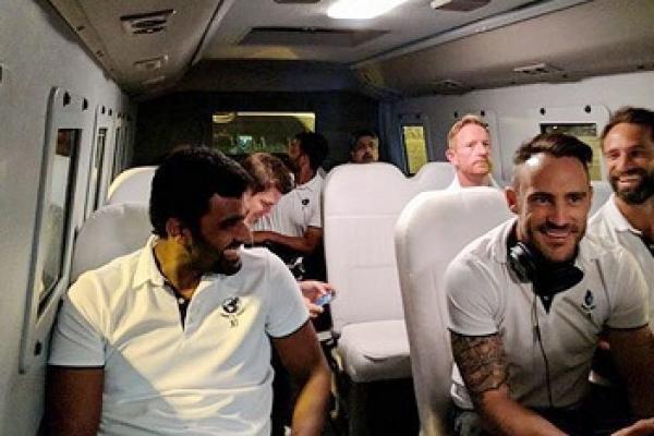 ICC World XI players arrive in Pakistan