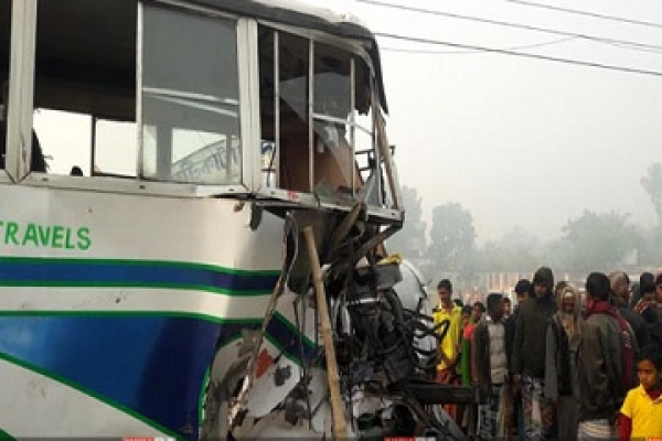 Rajshahi bus collision kills 3