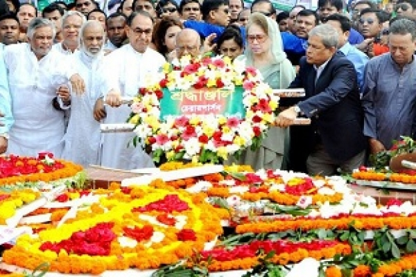 Khaleda Zia pays homage to martyrs