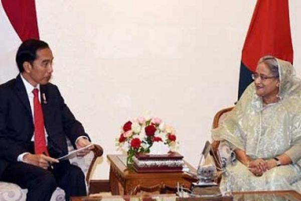 Indonesian President meets PM Sheikh Hasina
