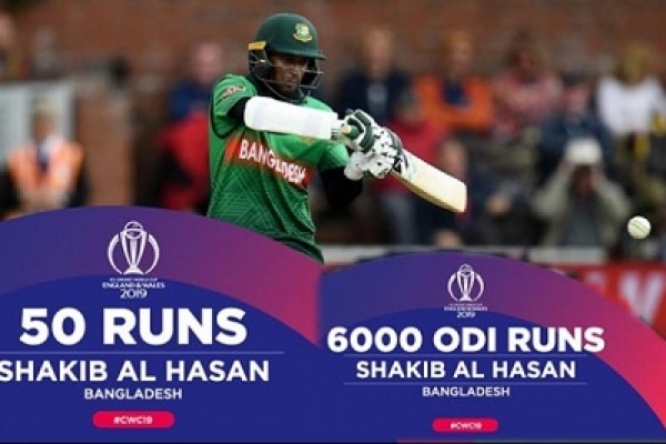 Shakib enters elite 6000-run club in ODI