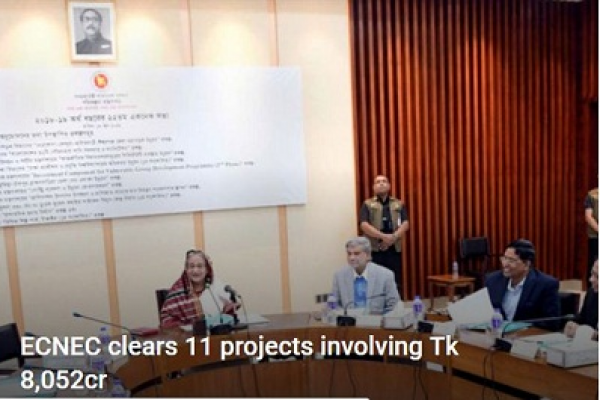 ECNEC clears 11 projects involving Tk 8,052cr