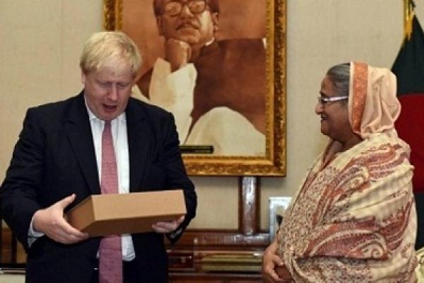 Sheikh Hasina sends Rajshahi Fazli to British PM