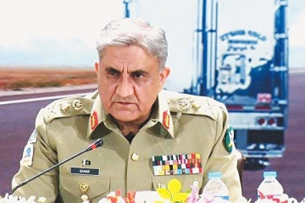 Pak army chief vows support for Kashmiris