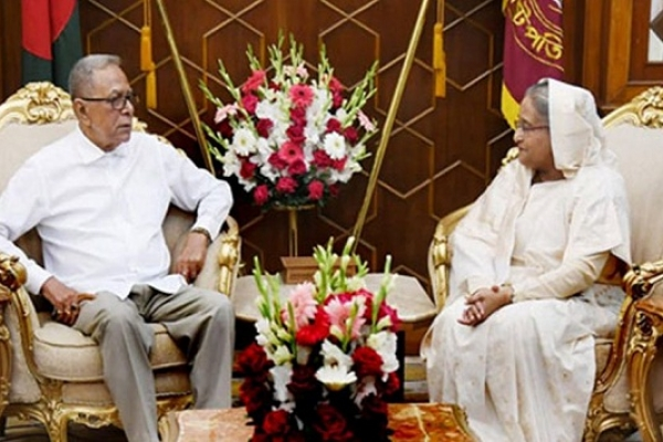 PM calls on President at Bangabhaban