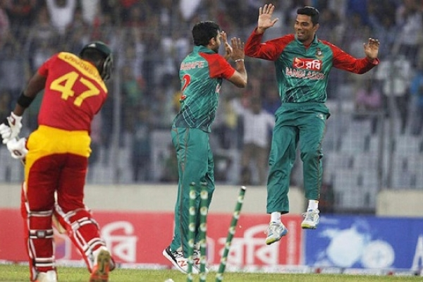 Bangladesh crush Zimbabwe by record 169 runs in first ODI