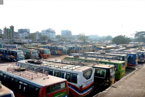 Long-haul bus plying from Rajshahi stopped over coronavirus