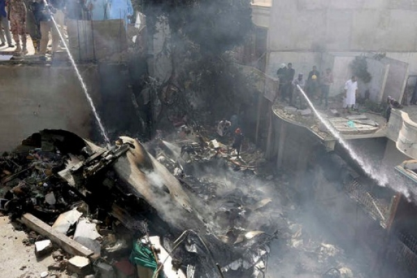 Pakistan passenger plane crashes, killing at least 98