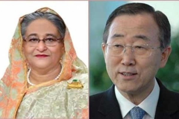 Ban Ki-moon calls up Sheikh Hasina