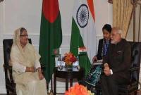 Hasina meets Modi, discuss bilateral issues