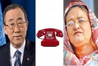 UN-secretary-Phoned-Shekh-Hasina