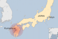 Deadly earthquake topples buildings in southern Japan