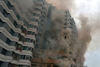 Fire at Uttar Badda 14-storey building