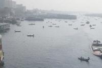 Trawler capsizes with 100 passengers