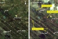 Satellite-images-of-Rohingya-village-burning