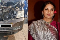 Shabana injured in road accident