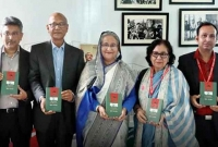 PM-unveils-cover-of-two-books-on-Bangabandhu