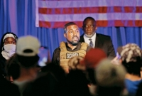 Kanye West holds chaotic opening of 2020 polls bid