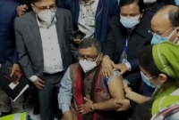 Health Minister Zahid Maleque  gets vaccinated