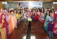 THE PREMIER BANK LIMITED CELEBRATES INTERNATIONAL WOMEN'S DAY 2021 BY WELCOMING ALL WOMEN EMPLOYEES WITH FLOWERS